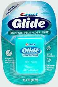 Зубная нить Флосс Crest Glide Comfort Plus Mint Floss