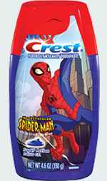 Гель зубной для детей Crest Kid's Spider-Man Liquid Gel Toothpaste Super Action Mint