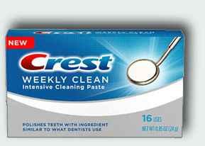 профессиональная зубная паста crest weekly clean