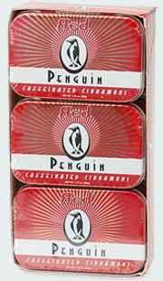 Энергетические леденцы Penguin Caffeinated Mints Cinnamon Пингвин