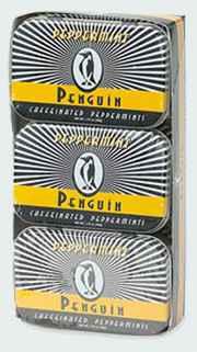 Энергетические леденцы Penguin Caffeinated Mints Peppermint Пингвин