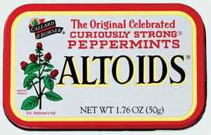 освежающие леденцы altoids peppermint алтоидс
