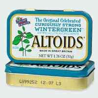 освежающие леденцы altoids wintergreen