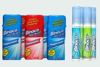 спрей для полости рта бинака binaca