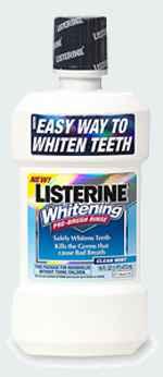 Ополаскиватель для полости рта LISTERINE Whitening Pre-Brush Rinse Clean Mint Листерин