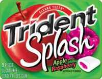 Жевательная резинка Trident Splash Apple with Raspberry Тридент