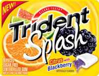 Жевательная резинка Trident Splash Citrus with Blackberry Тридент