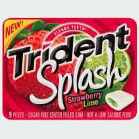 Жевательная резинка Trident Splash Strawberry with Lime Тридент