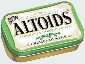 освежающие леденцы altoids creme de menthe