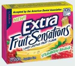 жевательная резинка купить  extra strawberry banana