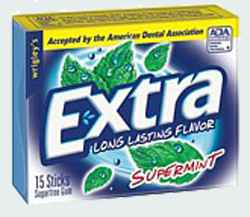 жевать жвачку extra supermint