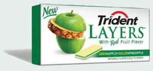 Trident Layers Green Apple & Golden Pineapple