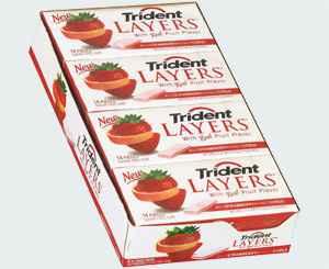 жвачка оптом trident