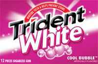 Жевательная резинка Trident White Cool Bubble