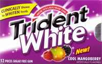 Жевательная резинка Trident White Cool Mangoberry