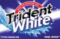 Жевательная резинка Trident White Cool Rush