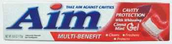 отбеливающая зубная паста aim cavity red cinnamint
