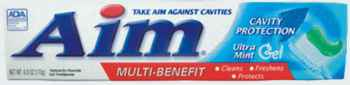 зубные пасты США aim cavity ultra mint