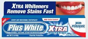 отбеливающая зубная паста plus white xtra whitening