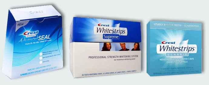 Полоски для отбеливания зубов Crest Whitestrips