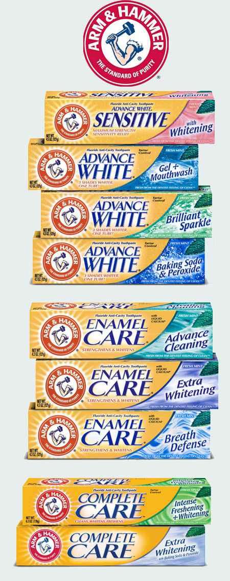 Лучшая зубная паста для отбеливания зубов Arm&Hammer (Арм Хаммер)