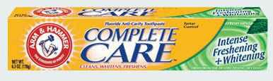 зубную пасту Arm & Hammer Complete Care Intense Freshening + Whitening Fresh Mint Toothpaste (Арм Хаммер интенсивная свежесть + отбеливание освежающая мята)