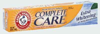 Оптовая зубной пасты Arm & Hammer Complete Care Extra Whitening with Baking Soda & Peroxide Fresh Mint Toothpaste (Арм Хаммер экстра отбеливание с содой освежающая мята)