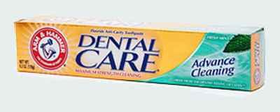 Зубная паста для укрепления эмали Arm & Hammer Dental Care Advance Cleaning Daily Fluoride Mint Toothpaste with Dental Baking Soda (Арм Хаммер укрепление эмали, чистка и отбеливание)