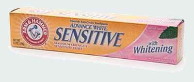 Зубная паста для чувствительных зубов Arm & Hammer Dental Care Advanced White Sensitive Toothpaste (Арм Хаммер продвинутое отбеливание)