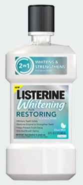 Инструкция по применению ополаскиватель для полости рта Listerine Whitening plus Restoring fluoride rinse clean mint (Листерин отбеливание плюс укрепление эмали очищающая мята) New!
