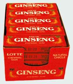 Новая Korean Ginseng Gum (Корейская жвачка с женьшенем)