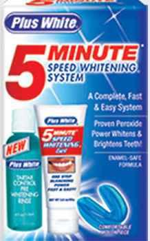 Отбеливание зубов недорого Plus White 5 Minute Speed Whitening System (система для отбеливания зубов Плюс Вайт)