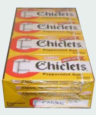 Chiclets Peppermint (Чиклетс перечная мята)