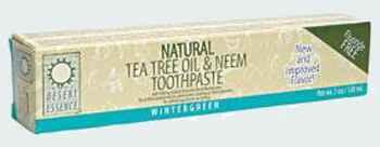 Desert Essence Tea Tree Oil Toothpaste with Neem
