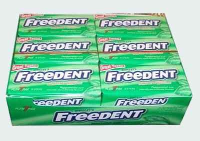 Магазин жвачек Wrigleys Freedent Peppermint (Фридент перечная мята)