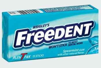 Мятная жвачка Wrigleys Freedent Spearmint (Фридент мята)