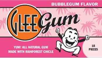 США Glee Gum Bubble gum (Гли бабл гам)