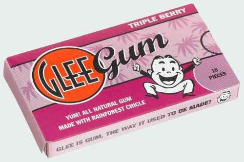 американские жвачки Glee Gum  Triple Berry