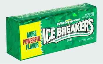 Оптовая Ice Breakers Wintergreen stick (Айс брекерс пластинки зимняя зелень)