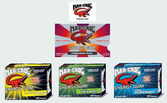 Американская жвачка Mad Croc Energy Gum