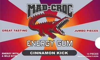 Mad Croc Energy Gum Cinnamon (Мэд Крок энергетическая жвачка корица)