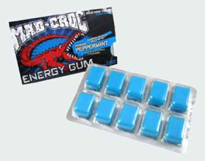 Американская Mad Croc Energy Gum Peppermint