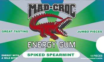 Mad Croc Energy Gum Spearmint (Мэд Крок энергетическая жвачка мята)