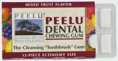 Peelu Dental Chewing Gum Fruit (жвачка Пилу фруктовая)