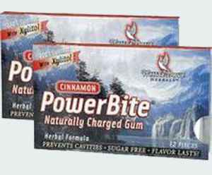 США Powerbite Natural Chewing Gum Cinnamon (Жвачка с корицей Пауэрбайт)