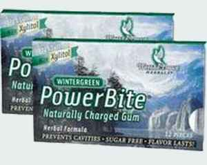 Жвачка из Америки Powerbite Natural Chewing Gum Wintergreen