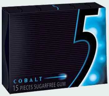 Жвачка Wrigley's 5 Cobalt (Жвачка ригли файв кобалт)