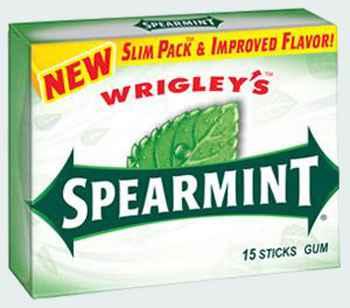 Жвачка Wrigley's Spearmint (Ригли спирминт)
