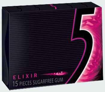 Жевательная резинка Wrigley's 5 Elixir (Жевательная резинка ригли файв Эликсир)