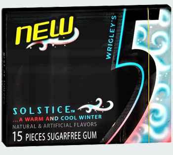 Wrigley's 5 Gum Solstice (Жвачка ригли файв солнце)